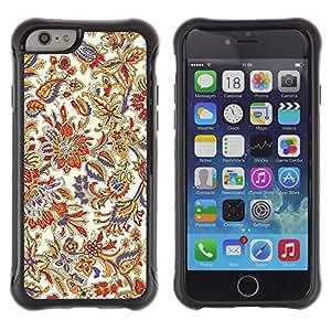 Suave TPU GEL Carcasa Funda Silicona Blando Estuche Caso de protección (para) Apple Iphone 6 PLUS 5.5 / CECELL Phone case / / Floral Vintage Retro Colorful Wallpaper Blossoms /