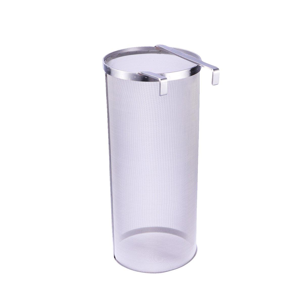 BESTONZON Stainless Steel Hop Filter Strainer Mesh Hopper Strainer for Home Beer Brewing Kettle (6 x 14inch)