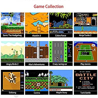 Handheld Game Console For Kids,Womdee 168 Classic Games 3 Inch LCD Screen Portable Retro Video Game Console,TV Output Mini Pocket Handheld Game ...