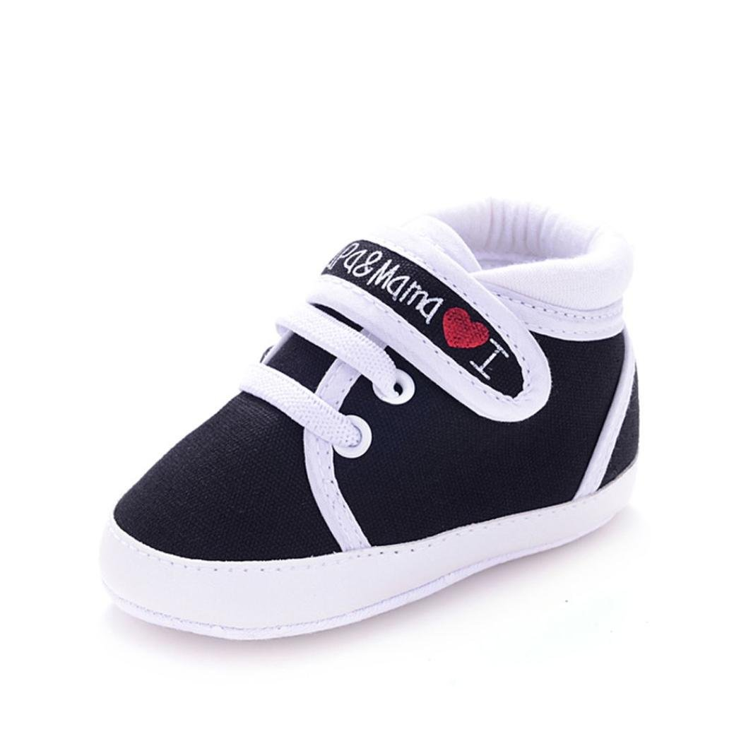 edf092e3081d4 Baby Walking Shoes for 0-18 Months,Infant Toddler Girls Boys Soft Soled  Non-Slip Canvas Sneaker Crib Shoes