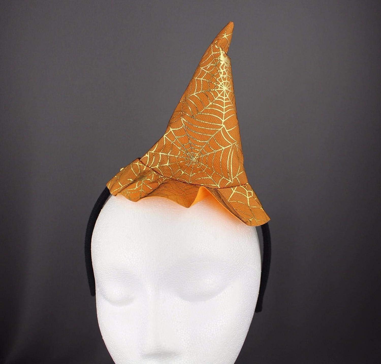 Amazon.com   Orange witch hat headband halloween thin skinny hair band  silver sparkle   Beauty 0b2fbb5abf8