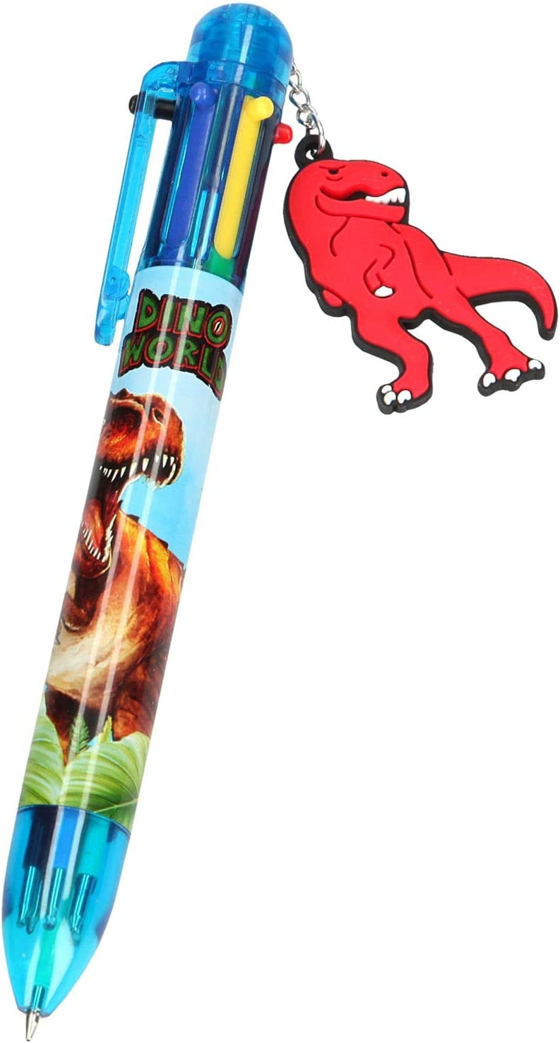 6852 Incluye 8 l/ápices de Colores. Dino World Depesche- Libro para Colorear con Pegatinas