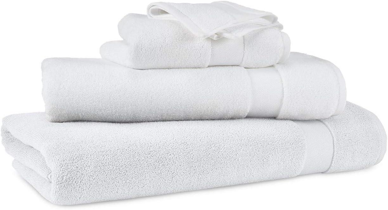 Lauren Ralph Lauren Wescott Bath Towel Sailcloth White 30 x 56