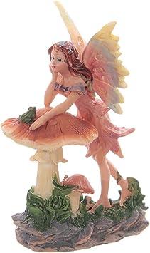 B Fairy leaning on crescent moon resin  fantasy figurine