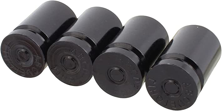 4x//Set Aluminum Bullet Car Wheel Tyre Tire Valve Stems Air Dust Covers Cap Black