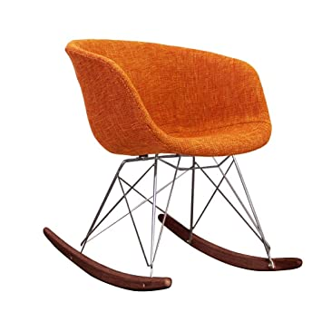 Fantastic Scandi Style Rocking Chair Retro Plastic Tub Seat With Huge Choice Of Colours And Natural Or Walnut Wood Finish Orange Fabric Walnut Stained Evergreenethics Interior Chair Design Evergreenethicsorg