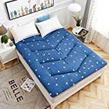 hxxxy Portable Folding Tatami Floor Mat,Mattress Topper Queen-king Traditional Japanese Futon Washable-A 90x200cm(35x79inch)