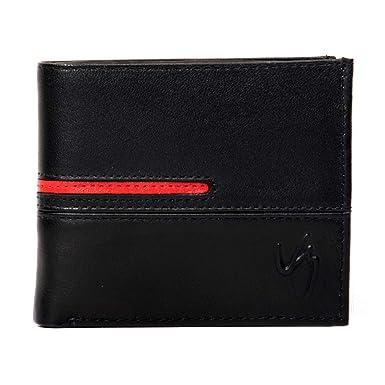 175633ba8 Velez Genuine Men Leather Soft Thin Slimfold Bifold Holder Cartera de Cuero  para Hombre Caballero Black