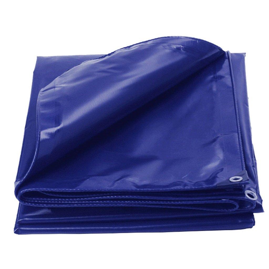 Plane Persenning Blau 100% wasserdicht und UV geschützt Heavy Duty Plane Bodenplane Abdeckungen für Camping, Angeln, Gartenarbeit Abdeckplanen (größe   3MX2M)