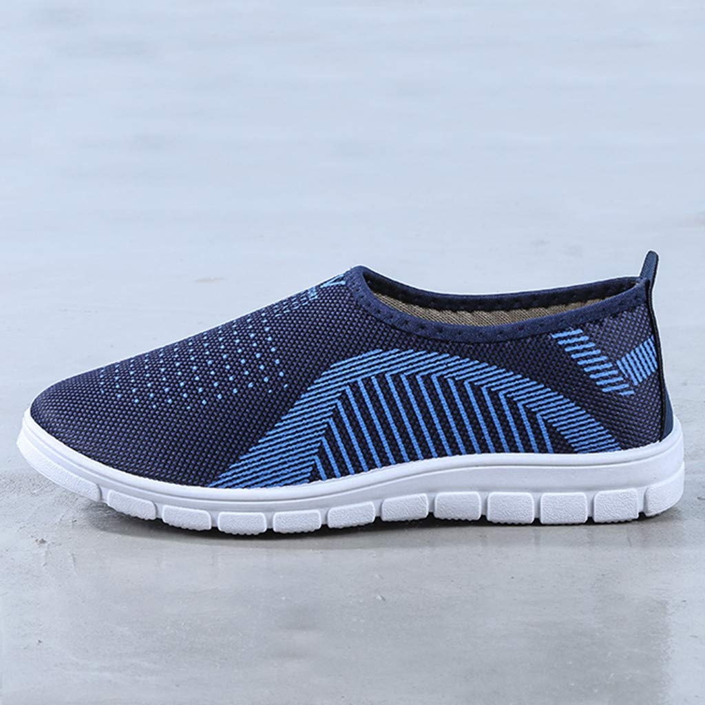 VonVonCo Men's Casual Slip-On Sport Shoes Sneaker Comfortable Footwears Loafers Shoes Blue by VonVonCo (Image #7)