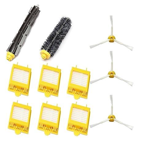 Cepillo de cerdas y cepillo flexible para batidora y filtro Hepa y cepillo lateral de 3