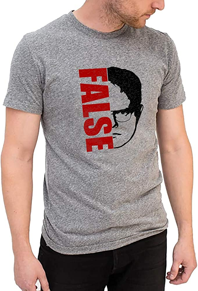 MISISI Unisex The Office Adult T Shirt, Dwight Schrute's Funny Graphic Shirts, Casual Crewneck Short Sleeve Daily Tee Shirt