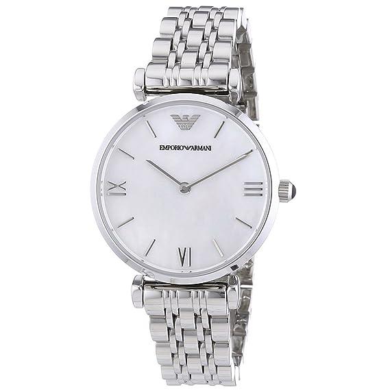bd8a8b685db5 Emporio Armani Reloj Análogo clásico para Mujer de Cuarzo con Correa en  Ninguno AR1682  Amazon.es  Relojes