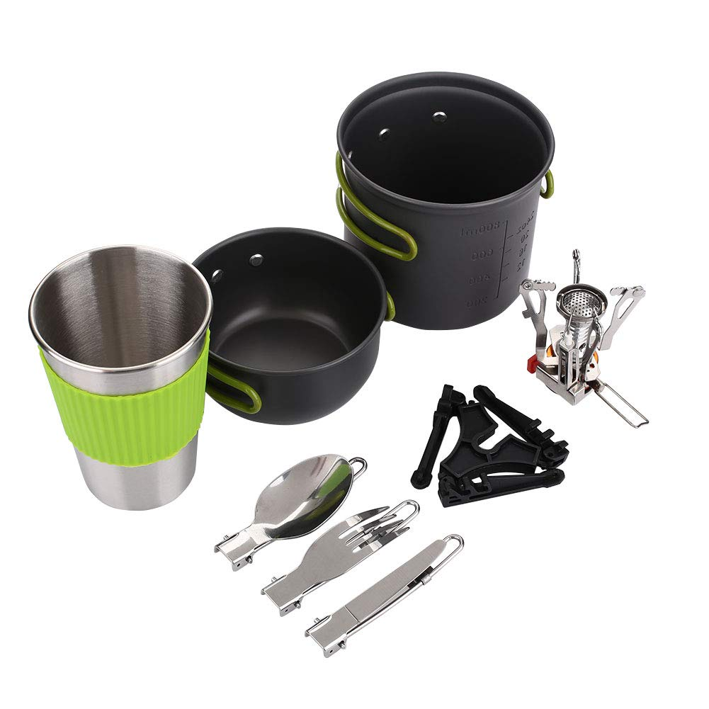 Fdrirect Strong Cooking Picnic Pot Camping Cookware Wood Burning Outdoor BBQ 1-2 Person by Fdrirect
