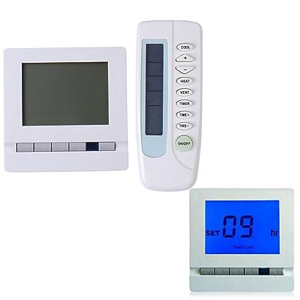 V-EWIGE Calefacción Termostato Digital Display termostato de Ambiente Azul Nueva