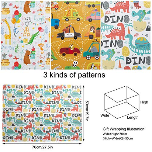 12-Sheets-Gift-Wrapping-Paper-Package-Papers-Craft-Present-Recyclable-Wrap-Paper-for-Kids-Boy-Girl-Birthday-Chirtmas-Gift-50-70cm-Folded