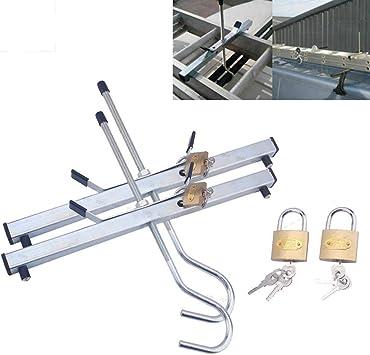 Par de abrazaderas de techo de escalera para coche, abrazaderas universales de seguridad con cierre para techo de coche o furgoneta con candados: Amazon.es: Bricolaje y herramientas