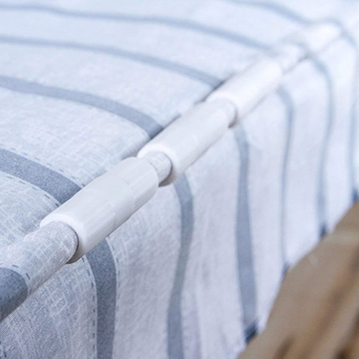 Blanc Migvela Pince de Fixation pour Drap de lit Clip de Fixation pour fixateur Fermeture de Drap de lit Boucle de Matelas antid/érapante Bride de Fermeture /étanche