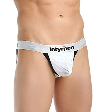 fe42826d034f Intymen Sporty Contour Pouch Mesh Jockstrap (4604) at Amazon Men's Clothing  store: