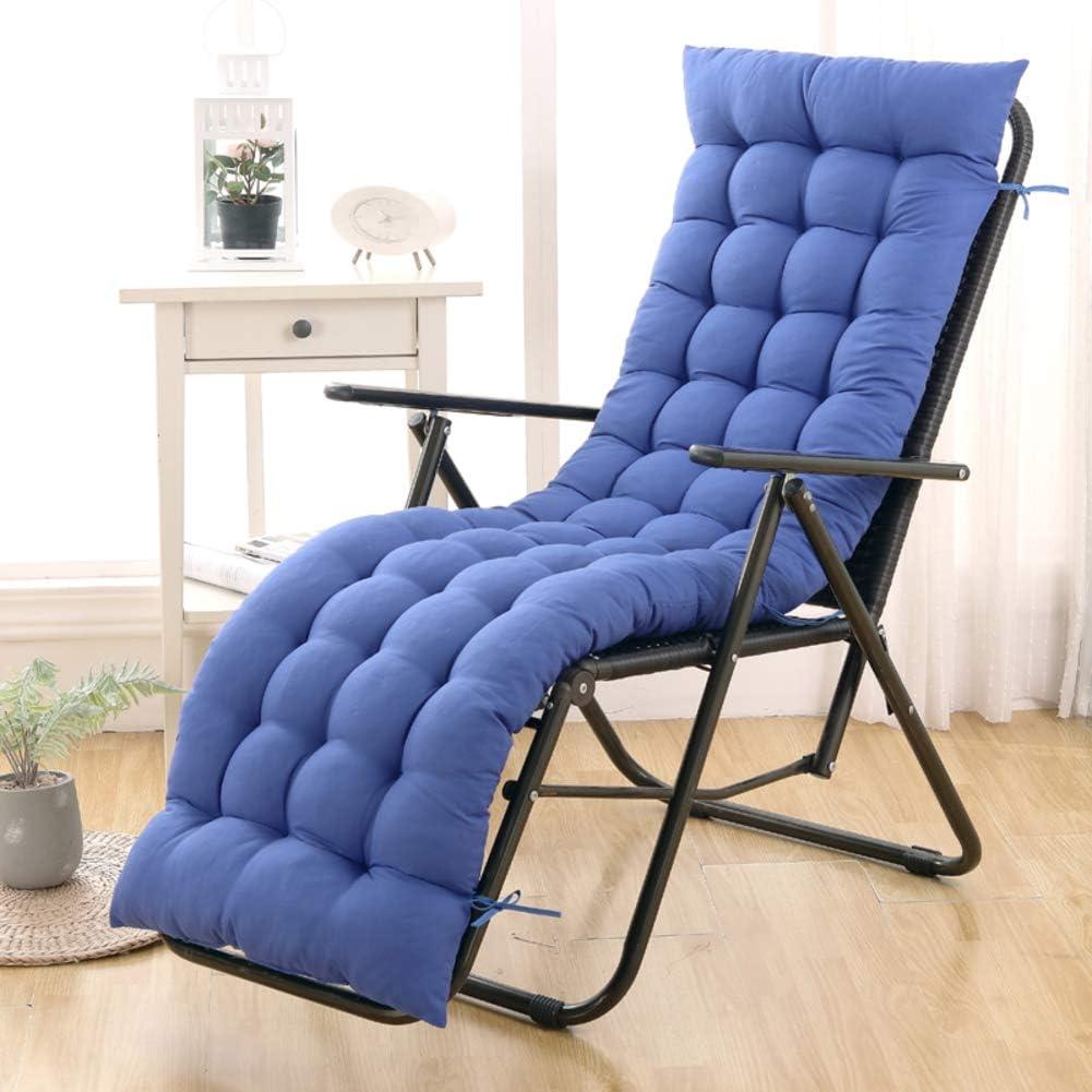 Outdoor Lounge Chair Cushion,Jumbo Thick Patio Chair Cushions,Lounge Chaise Cushion,Garden Lounge Chair Cushion with Not-Slip Tie B 40x100cm(16x39inch)