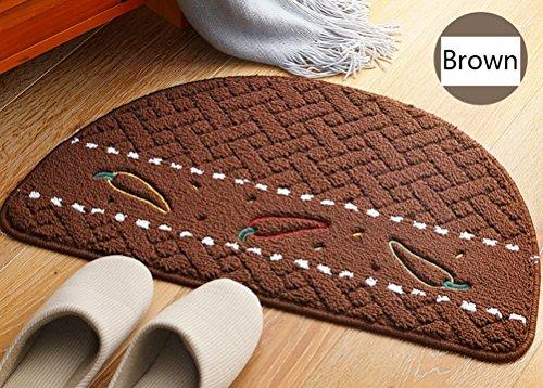ZebraSmile Semicircle Chilli Home Entrance Doorway Mat Door Mat Entry Doormat Entryway Half Moon Door Mat Door Carpet for Bedroom Indoor Halfmoon Mat Non Slip Back - Half Circle Mat