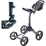 Bag Boy Quad XL 4-Wheel Golf Push Cart with Free adjustable Umbrella Holder($30 Value)