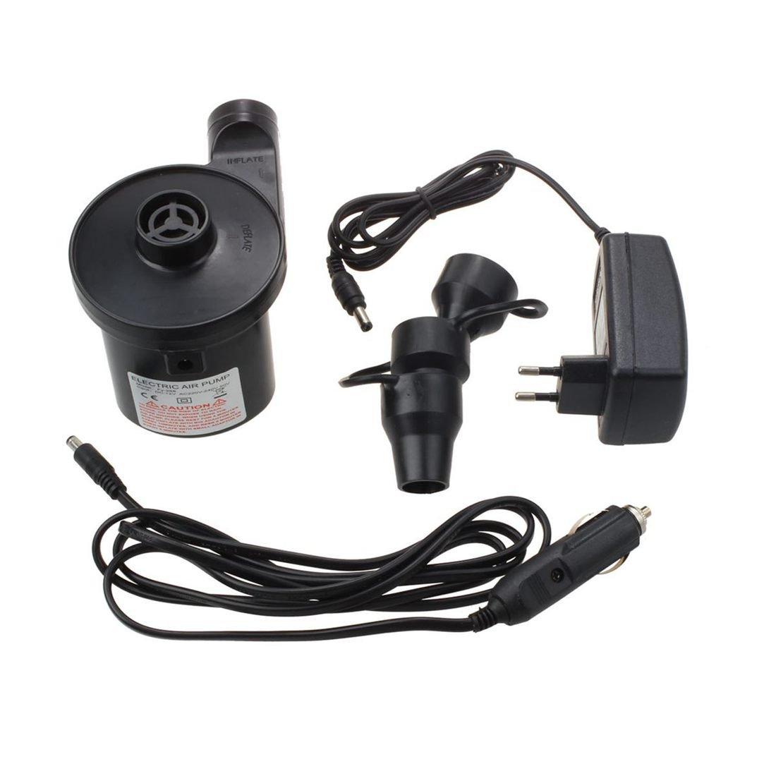 Nrpfell Pompe a air Electrique Pompe Electrique avec 3 Accessoires pour Matelas pneumatiques,Gonflable Flottant ou Camping Pompage Automatique et Rapide de Haut en Bas