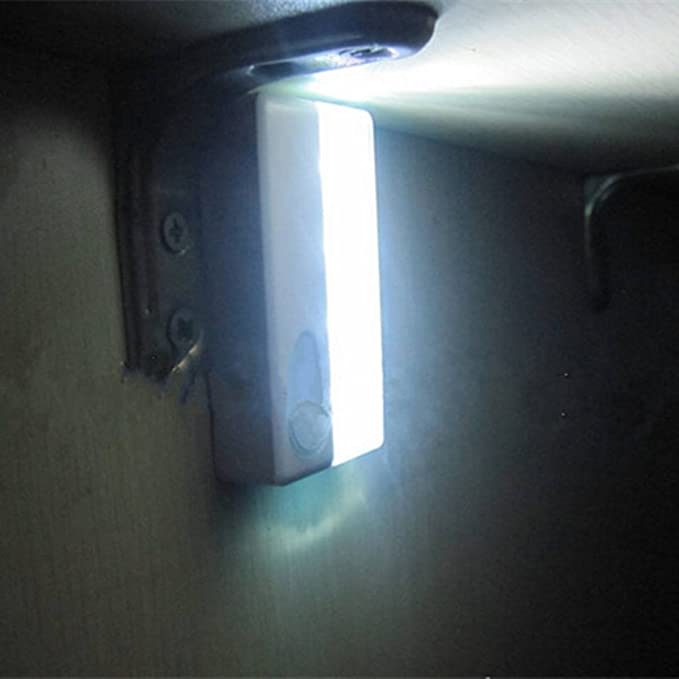 SOLMORE 4LED Bombilla de movimiento por infrarrojos con sensor de luz LED cuerpo/vista del Gobierno Armario luz Nightlight Luz con sensor de movimiento por ...