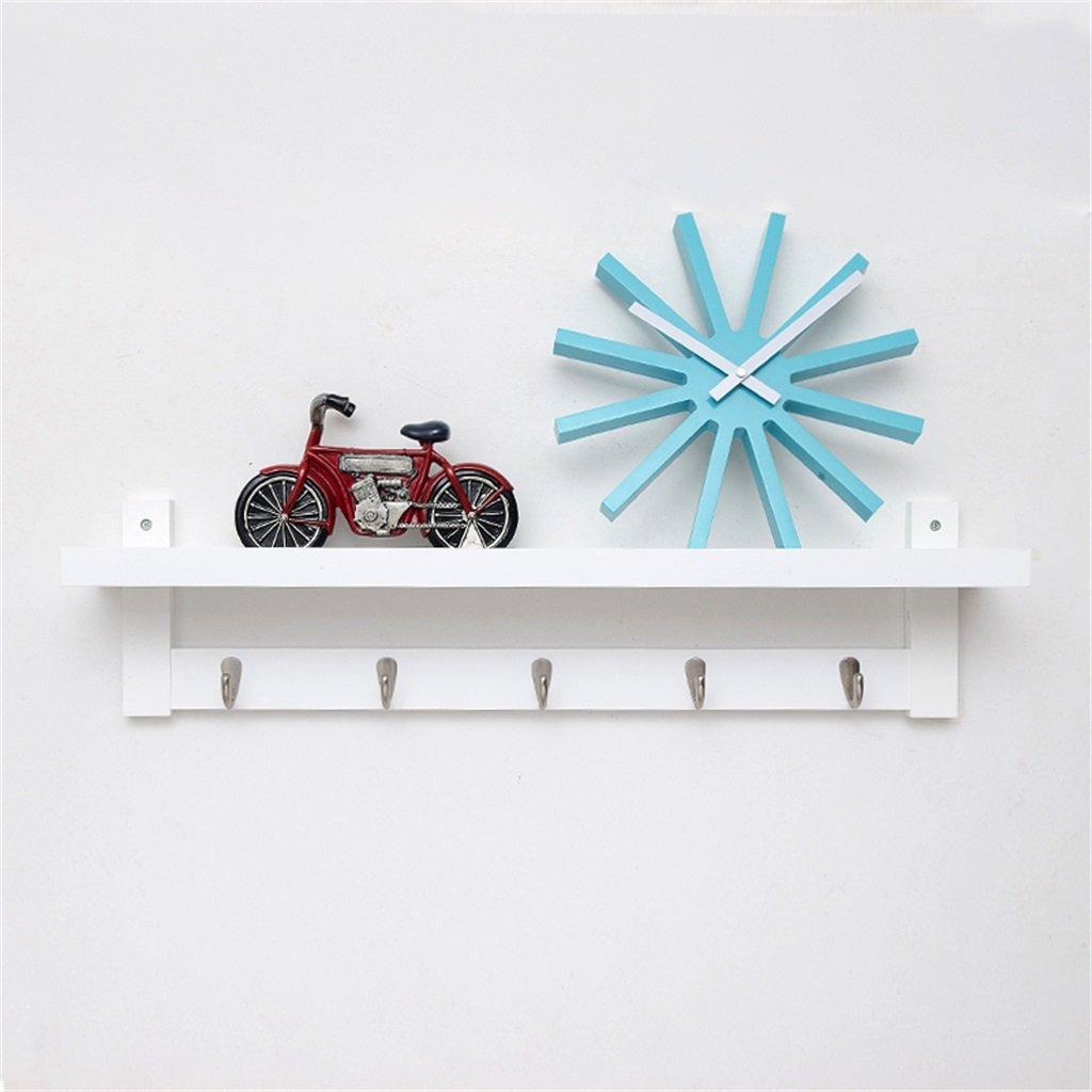 WEBO Home- Japanische Kreationen an der Wand Kleiderbügel Holz Kleiderständer Schlafzimmer Wohnzimmer Wandhänger Haken Racks (Farbe   Weiß, größe   5 Hook)