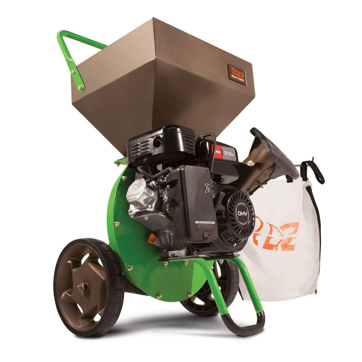 Earthquake TAZZ 30520 Heavy Duty 212cc Gas Powered 4 Cycle Viper Engine 3:1 Capable Multi-Function Wood Chipper Shredder 3'' Max Wood Diameter Capacity, 5 Year Warranty by Earthquake