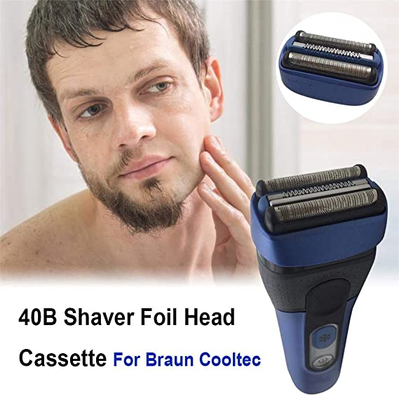 40B Cooltec Cabezales de Afeitado de Repuesto Poweka para Braun ...