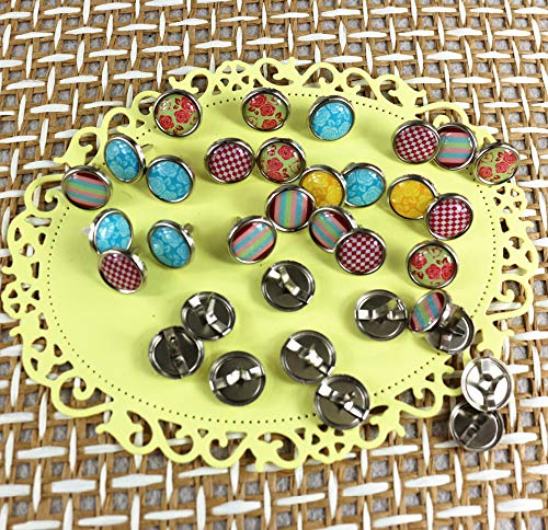 Zereff Scrapbooking Brads Epoxy Metal Nails Decoration Embellishment Dia 12Mm 50Pcs/Lot