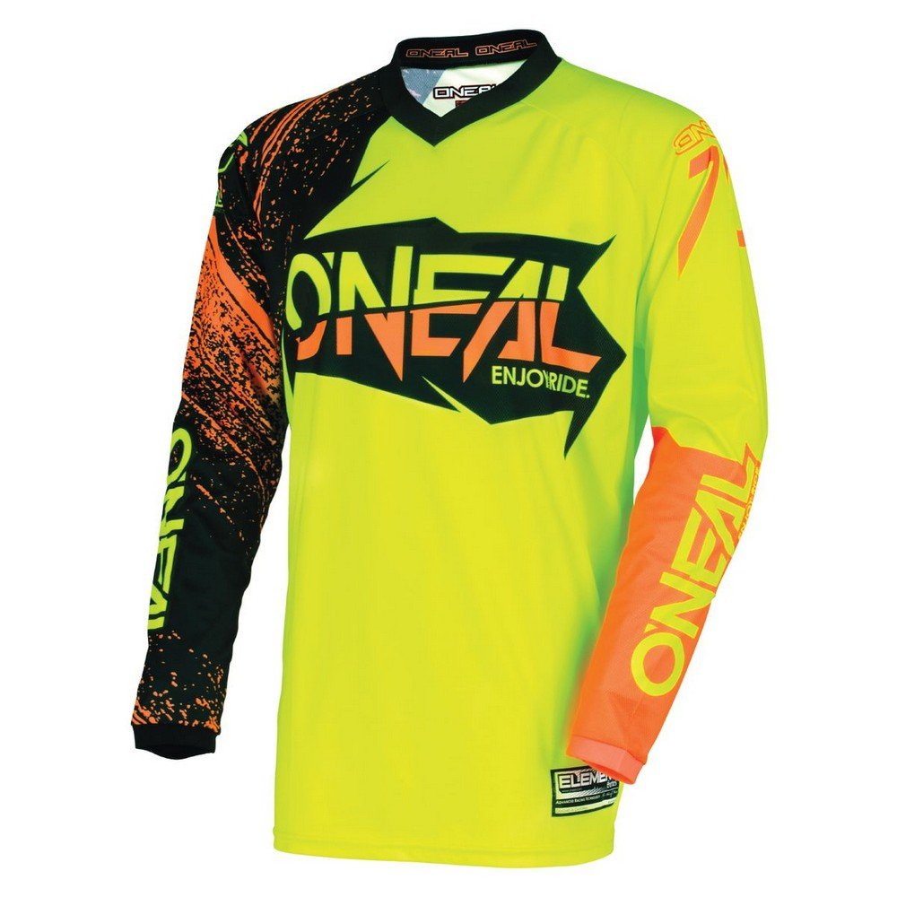 O'Neal Youth Element Burnout Jersey (Black/Hi-Viz/Orange, Large)