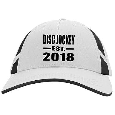 Disc Jockey Established EST. 2018 - Mesh Inset Cap White Black   One Size f540a057a69