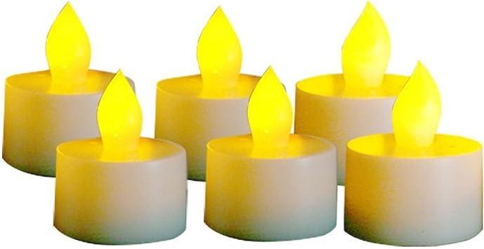 EcoGecko Indoor//Outdoor Set of 12 Flameless Votive Candles with 6 hourTimer