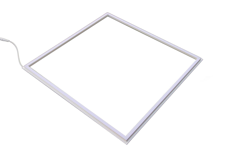 FactorLED Pack x2 FIT Panel LED 60x60 cm 40W Marco Luminoso Blanco 120º, 4200 Lm Varias Temperaturas 6000k 4000k y 3000k, No Flick Lámpara LED Techo, Bajo Consumo ¡Nuevo! (Blanco Neutro) [Clase de eficiencia energética A+]