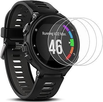 Protectores de Pantalla para Garmin Forerunner 735XT Smartwatch, AFUNTA 3 Paquetes Vidrio Templado Película Anti: Amazon.es: Electrónica