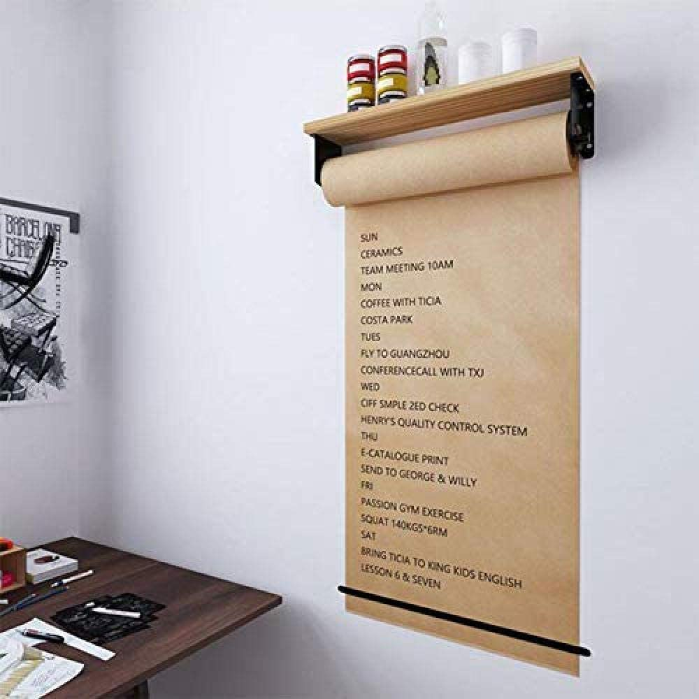 Gadgets Wall Mounted Kraft Paper Roll Holder Paper Dispenser For Office Home And Coffee Shop