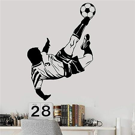 Tatuajes de pared Jugador de fútbol para niños Etiqueta deportiva ...