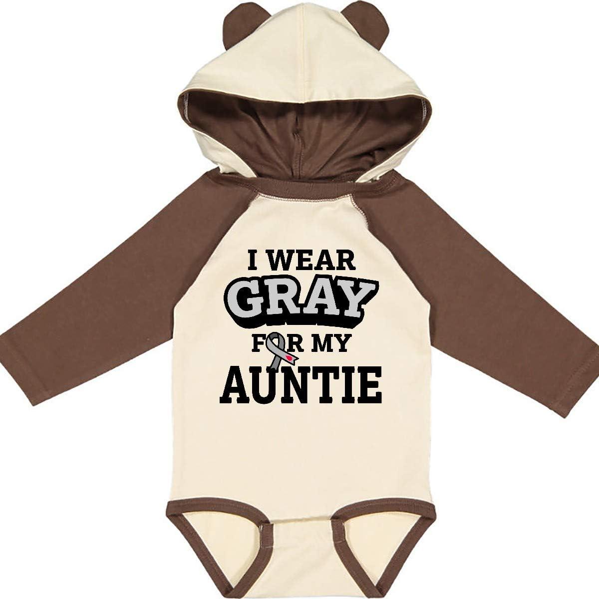inktastic I Wear Gray for My Auntie Diabetes Awareness Long Sleeve Creeper