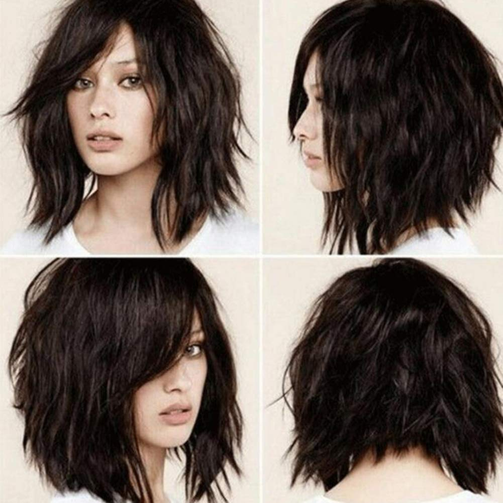 Wigs gLoaSublim, Fashion Short Wave Wig Synthetic Fiber Charming Women Daily Party Hairpiece - Black