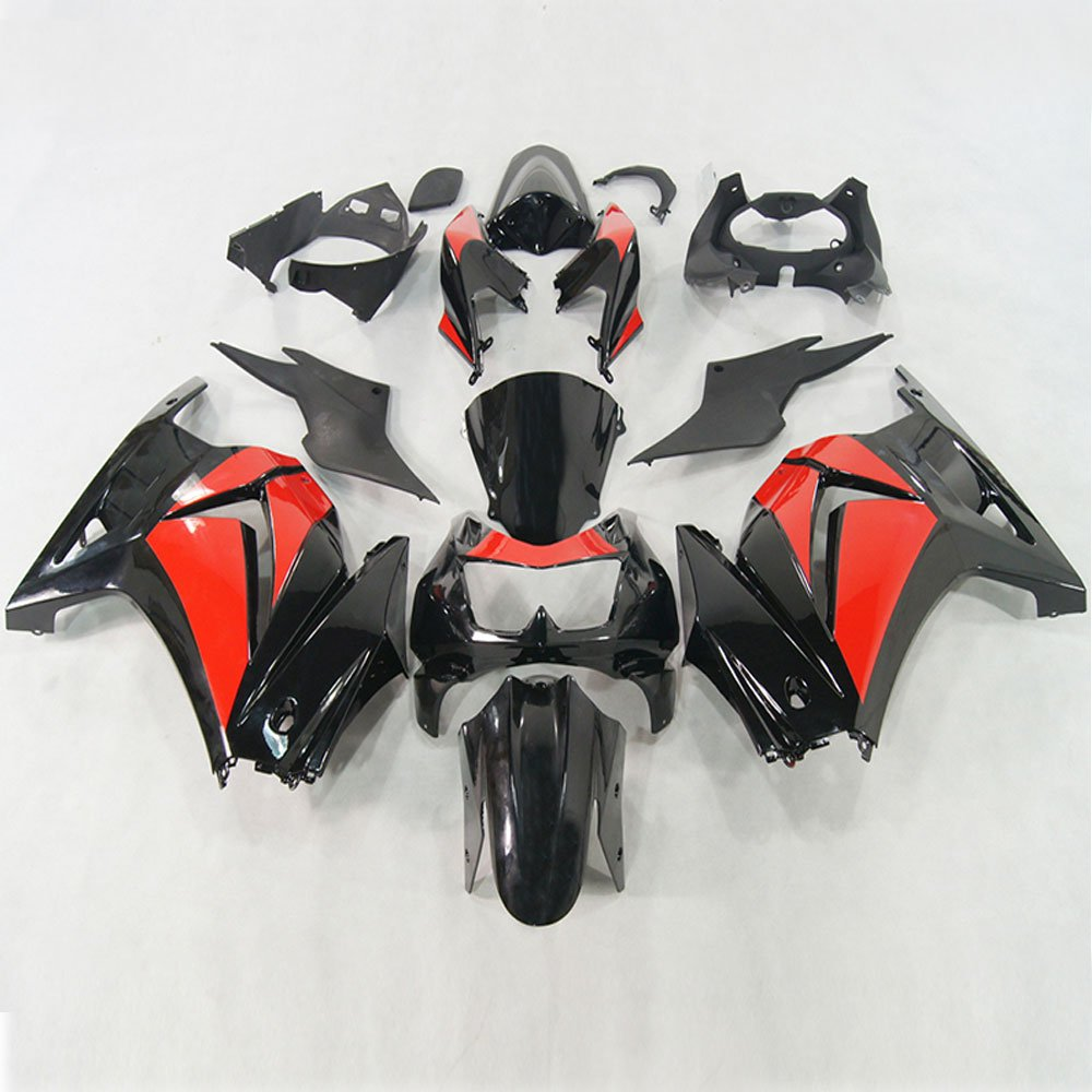 Moto Onfire Red Black Fairings Kits For 2008 2009 2010 2011 2012 Kawasaki Ninja 250 EX250 Plastic Body Work