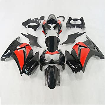 Moto Onfire Red Black Fairings Kits For 2008 2009 2010 2011 2012 Kawasaki Ninja 250 EX250 Plastic Body Work