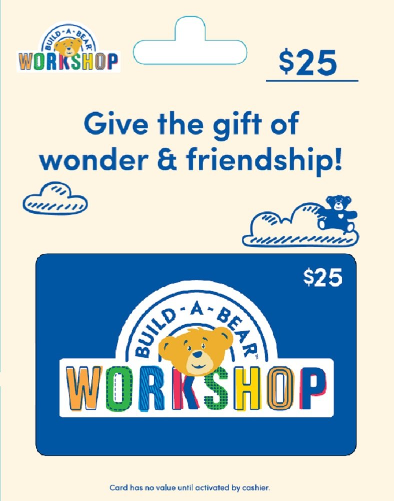 Amazon Build A Bear Gift Card 25 Gift Cards
