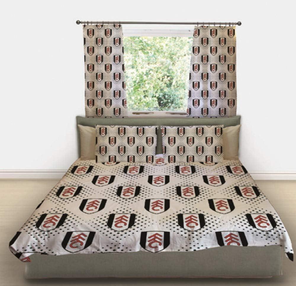 72 x 66 Curtains Fulham Football Club Boys Girls Bedroom Duvet Cover Bedding Set