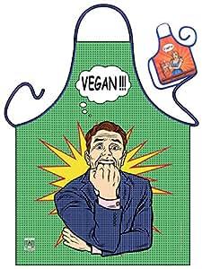 Rahmenlos–Delantal con diseño–Vegan.–Delantal,, hornear, regalo, cumpleaños–con mini Delantal