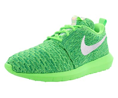 reputable site 4aa1f 06b09 NIKE Womens WMNS Roshe Nm Flyknit, Voltage Green White-Lucid Green, 6