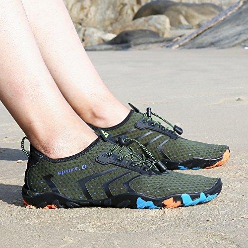 Green Barefoot Shoes Womens Aqua Beach Swimming Pool Mens Unisex Walk for 1 Water Green 4qwYPP