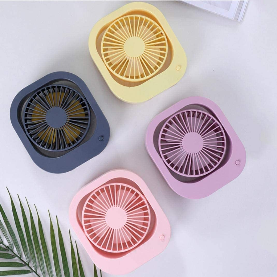 Lcxligang LS Portable Rotary USB Rechargeable Handheld Cooling Fan Home Office Desktop Cooler Color : Pink