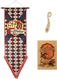 Birthday Decor for Harry Flag Potter Wall Banner, Gryffindor | Hufflepuff | Ravenclaw | Slytherin House Decor Flag (34X168CM)